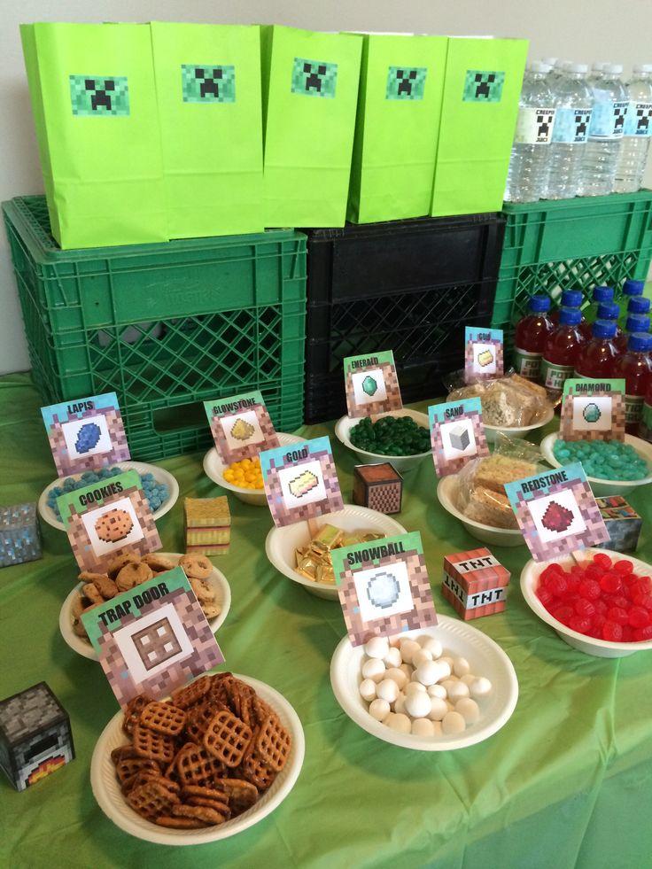 Minecraft inspired snacks