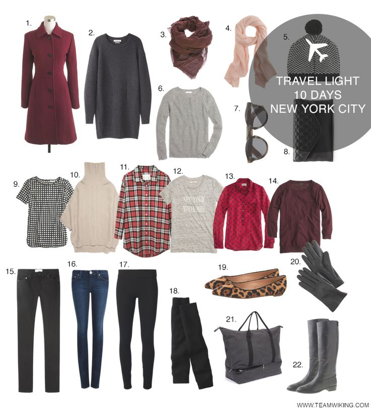 1. Wool Coat / 2. Sweater Dress / 3. Maroon Scarf / 4. Pink Scarf / 5. Checked Cap / 6. Gray Sweater / 7. Sunglasses / 8. Envelope Clutch / 9. Windowpane Shirt / 10. Tan Sweater / 11. Oversized Flannel / 12. New York New York / 13. Bow Popover / 14. OxbloodRead More