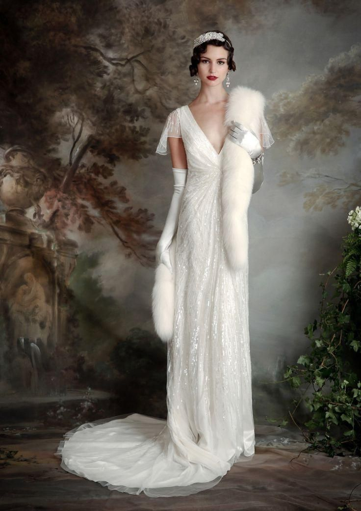 733 best great gatsby wedding images on pinterest bridal for Wedding dresses in the 1920s