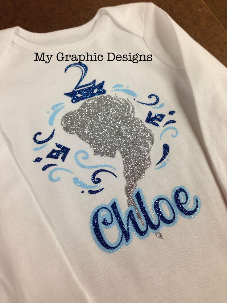 Www.facebook.com/mygraphicdesigns.com Frozen birthday shirt bling