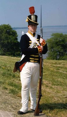 War of 1812 Uniforms American | Photo of re-enactor in War of 1812 clothing