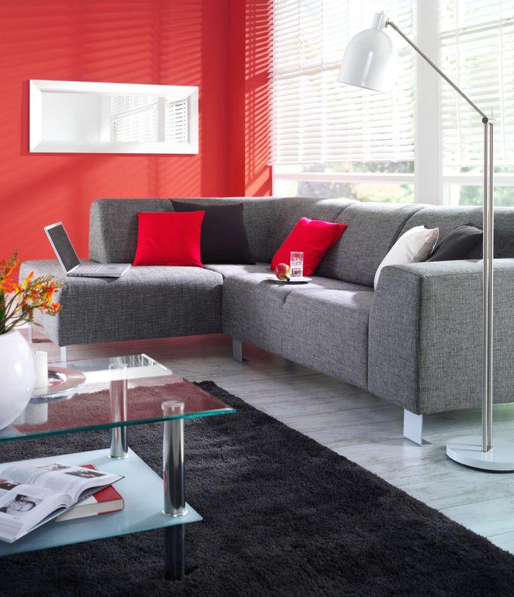 Hoekbank Rimini  strakke maar tegelijkertijd comfortabele bank in de kleur antraciet  Tip