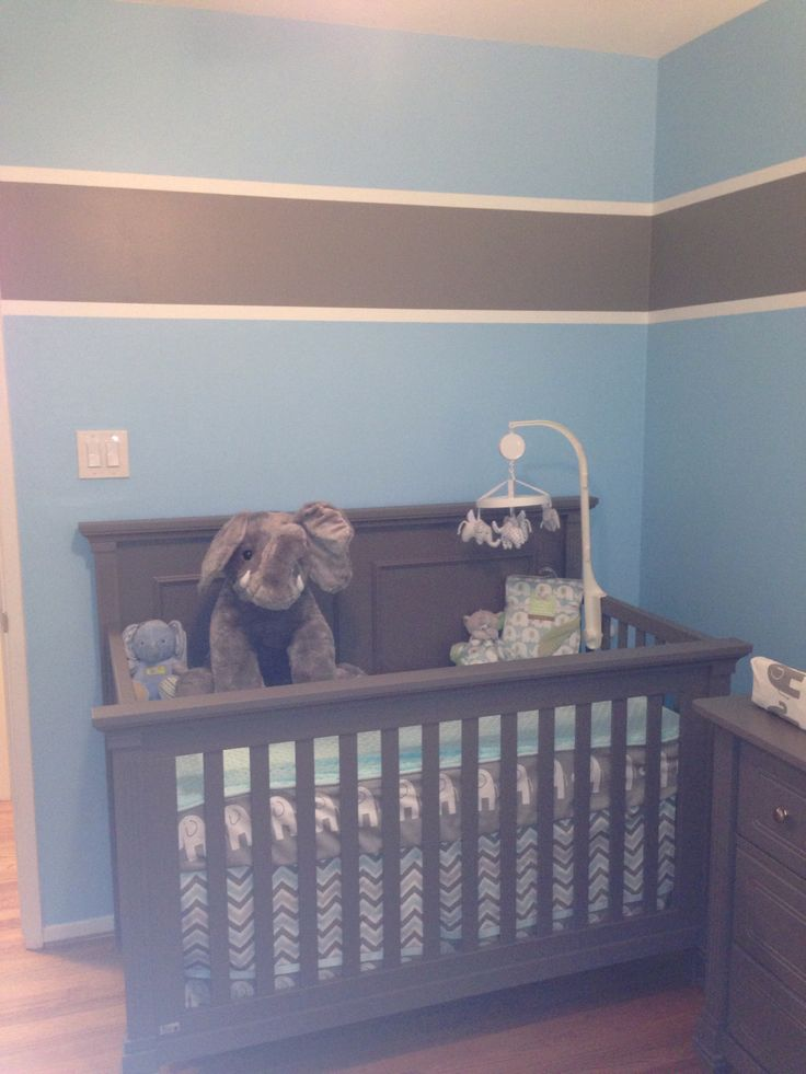 Gray And Blue Bedroom Decorating Ideas: Baby Boy Nursery Grey And Blue