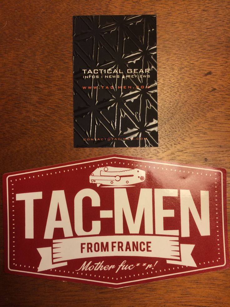 Tac-Men sticker and business card that came with my patches. Very cool. I'll probably be putting the sticker on my Pelican rifle case.