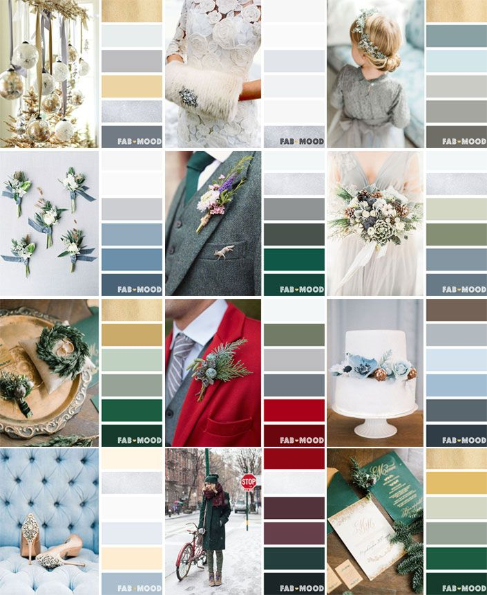 From reds,classic shades of blue to icy blue. 12 winter wedding color palette that we give you endless possibilities,icby blue silver winter wedding theme