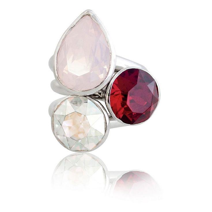 Hamptons Summer 2018 Stacker Ring Set #bling #MarisaKateDesigns #Swarovski #crystal #jewel #sterlingsilver