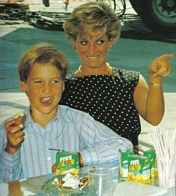 Princess Diana with Prince William having some spontaneous fun! How genuinely delightful!