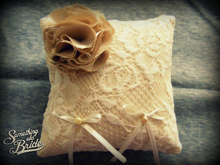 Vintage Floral Lace Ring Pillow www.somethingoldbride.com Facebook/Something Old Bride
