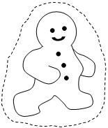 FREE Gingerbread Man Popsicle Stick Puppets - Black & White- From Making Learning Fun