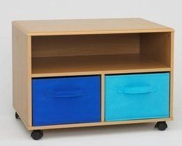 4D Concepts Boy's TV Cart, Beech by 4D Concepts. $88.95. Casters for mobility. Shelf for component storage. Comes ready to assemble. 2-Removable, foldable canvas drawers (1-light blue and 1-dark blue). Each drawer has a handle. This uniquely styled TV cart is great for any room in the home. The vacuumed formed top with gently rolled edges give the cart that added touch of style. The unit is accented with foldable navy and light blue canvas drawers that are great stora...