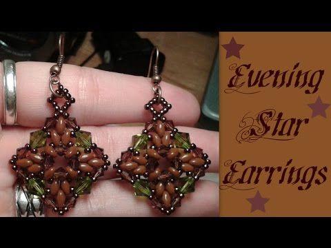 Evening Star Earrings Beading Tutorial by HoneyBeads - YouTube