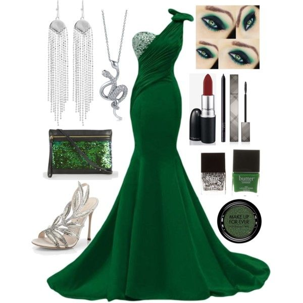 """Slytherin Yule Ball //Annabeth"" by the-fandom-gals on Polyvore"