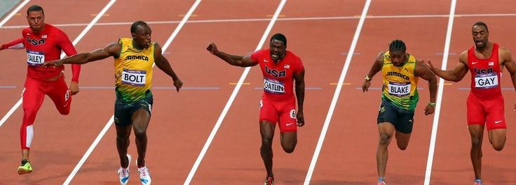 Victoria histórica Bolt en 100 m #london2012 #olympics