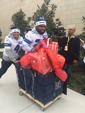 Toys for Tots - Dak and Zeke having a little gift collecting fun ;)