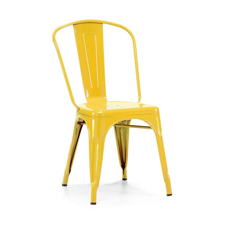 Amalfi Stackable Glossy Steel Side Chair