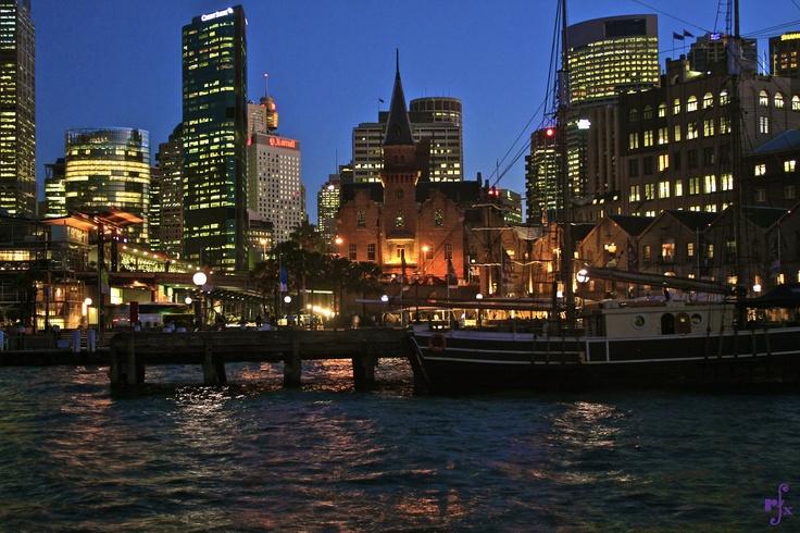 Southern Swan tallship docked at The Rocks in Sydney