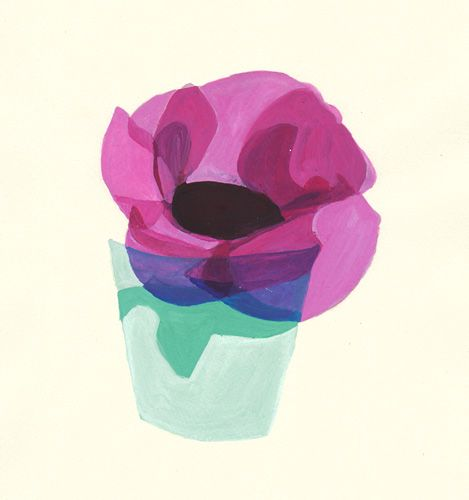 "A illustration with inspiration of "" Norwegian Wood "" Haruki Murakami ""anemone"""