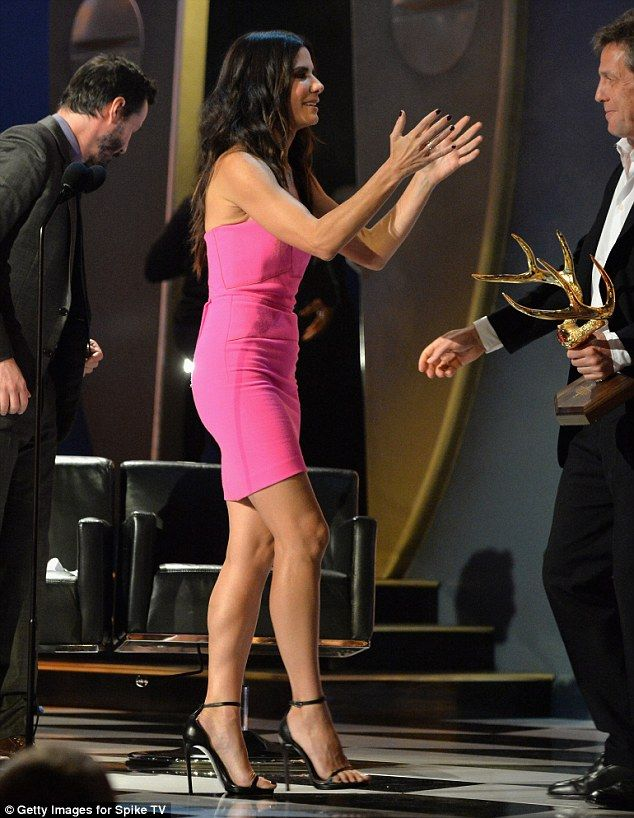 Sandra Bullock was Miss Congeniality herself as she picked up her Decade of Hotness honour during Spike TV's Guys Choice Awards at Sony Pictures Studios in Culver City, California.