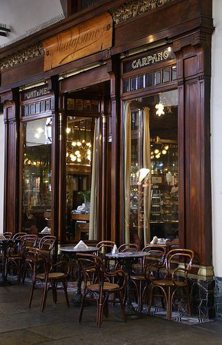 Makes me think of my extended Italian family. Caffè Mulassano. Turin, Italy