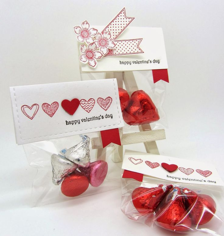 Valentine Treat Bags with Petite Petals and Language of Love Stamp  Sets from Stampin' Up! Occasion and Sale-A-Bration catalogs www.pinkblingcrafter.blogspot.com