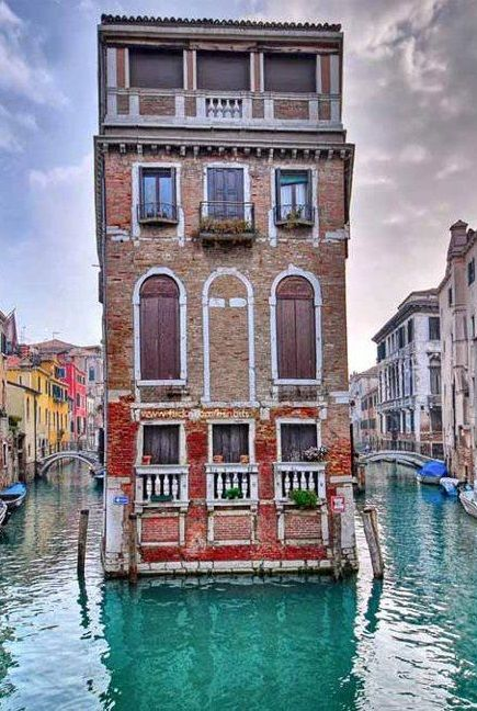 Venice is a city in northeastern Italy sited on a group of 118 small islands separated by canals and linked by bridges. It is located in the marshy Venetian Lagoon which stretches along the shoreline between the mouths of the Po and the Piave Rivers.