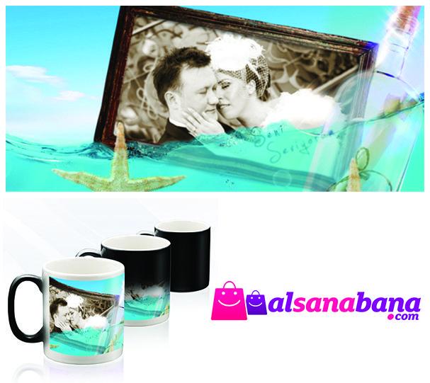 ''OKYANUS'' KUPA BARDAK Kişiye özel fotoğraf baskılı, kansorejen madde içermeyen, sihirli kupa bardak.