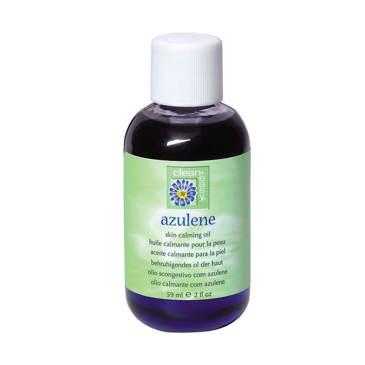 Clean + easy Azulene Oil soothes the skin after any type of hair removal.
