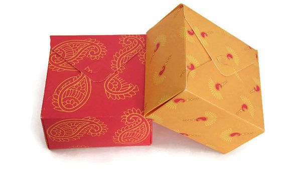 Square box Indian wedding favor gift box diwali gift by ChainOfJoy