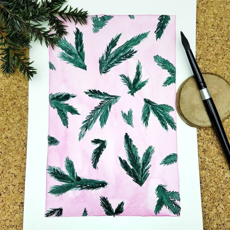 Watercolor illustration  Christmas time