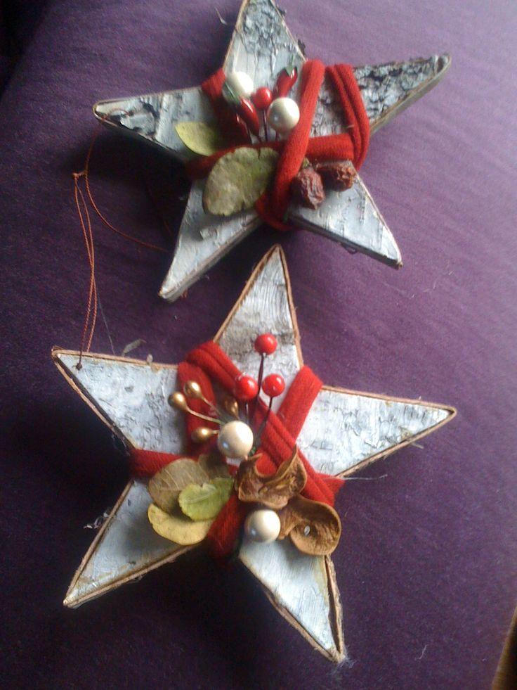 stelle in legno decorate a mio gusto