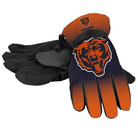 Chicago Bears Gloves Insulated Gradient Big Logo Size Small/Medium #ChicagoBears