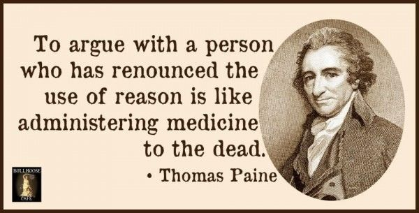 If you have some time this Sunday, have a listen to Christopher Hitchens hour lecture on Thomas Paine.