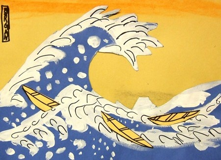 """Inspired by Hokusai, """"The Great Wave"""""""