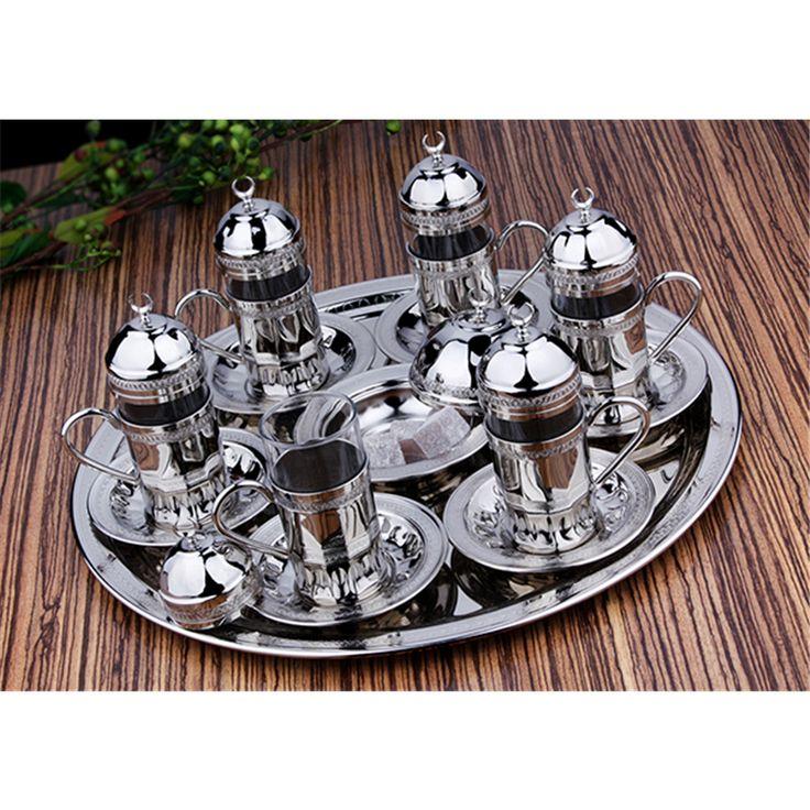Hediyelik Gümüş Renk Bakır El Dövmeli Su & Çay Takımı : Hediyelik Bakır Çay Takımları - Duvar Saati | Masa Saati | Kol Saati | Fiyatları ve Modelleri