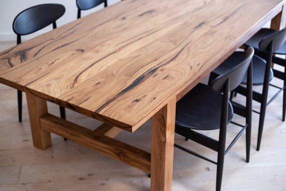 Rustic Solid Timber Farmhouse Dining Table Made To Order
