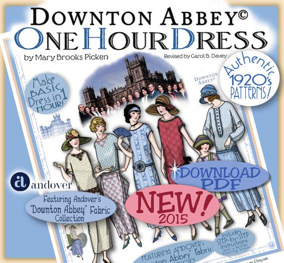 DOWNTON Abbey pattern 1 HOUR DRESS  Pdf by eVINTAGEpatterns