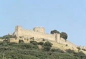 The Platamon Castle (Greek: το κάστρο του Πλαταμώνα) is a castle of the middle Byzantine period (10th century AD) and is located southeast of Mount Olympus, in a strategic position which controls the exit of the Tempe valley, through which passes the main road connecting Macedonia with Thessaly and southern Greece.[1] The tower, which overlooks the highway, is an imposing medieval fortress. The Turks seized the castle around in 1386.