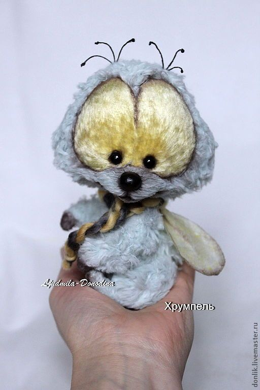 Купить Хрумпель - голубой, муха, коллекционные игрушки, друзья тедди, друзья мишек тедди