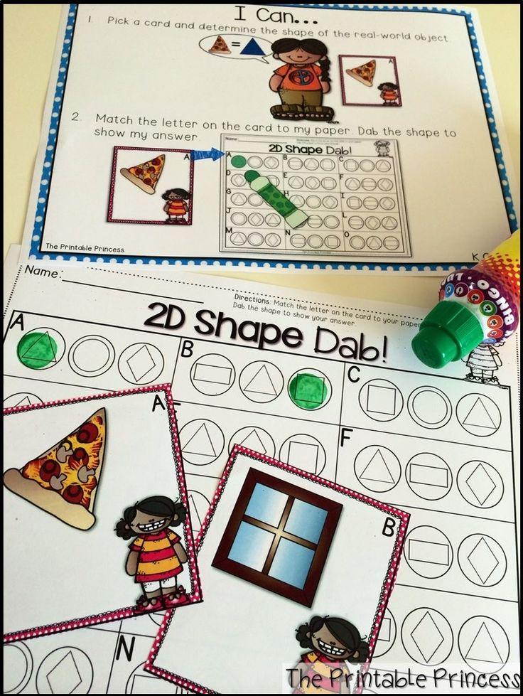 Kindergarten math centers using bingo dabbers!