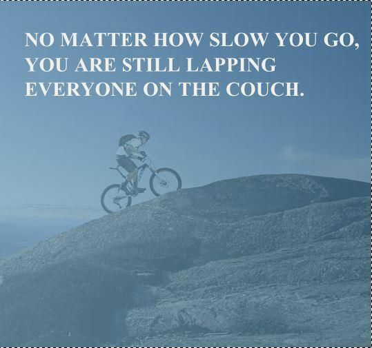 It doesn't matter how slow you go...#cycling
