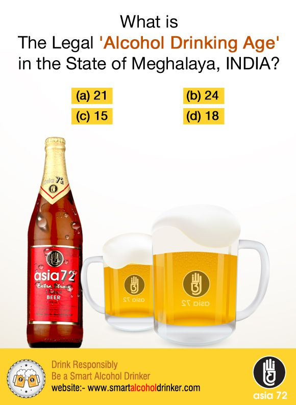 #Alcohol #Drinking Age in #Meghalaya India ?  Share with your #friends who love GK .