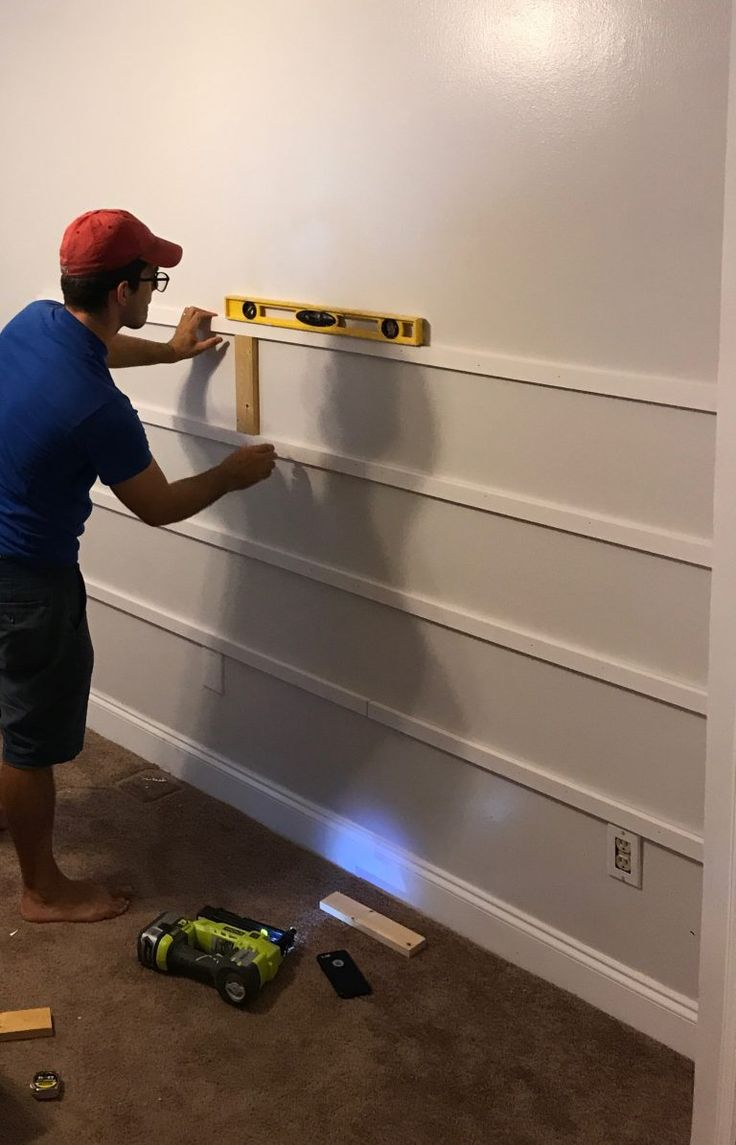 Gorgeous Horizontal Board And Batten Accent Wall A Diy