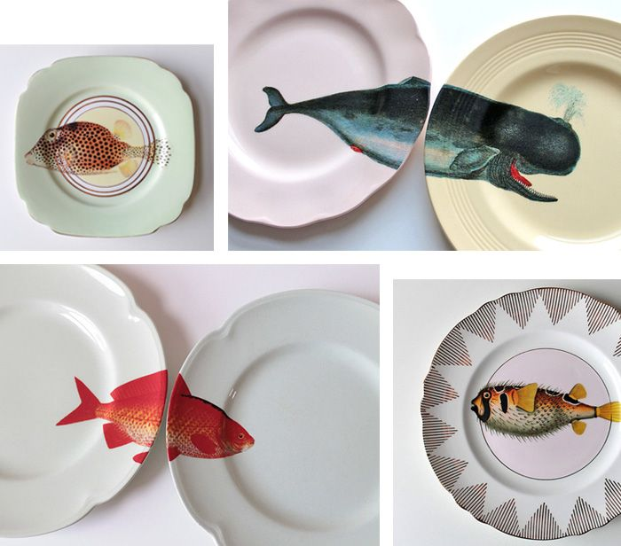 Im liking Yvonne Ellen her handpainted fish plates, you do too?