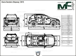17 best dacia blueprints images on pinterest dacia car blueprints dacia sandero stepway 2015 drawing ai cdr cdw dwg malvernweather Image collections