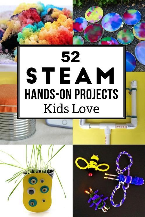 Hands on STEAM activities for kids -- a fun idea book for teachers and parents of kids who love STEAM (science tech engineer art math)