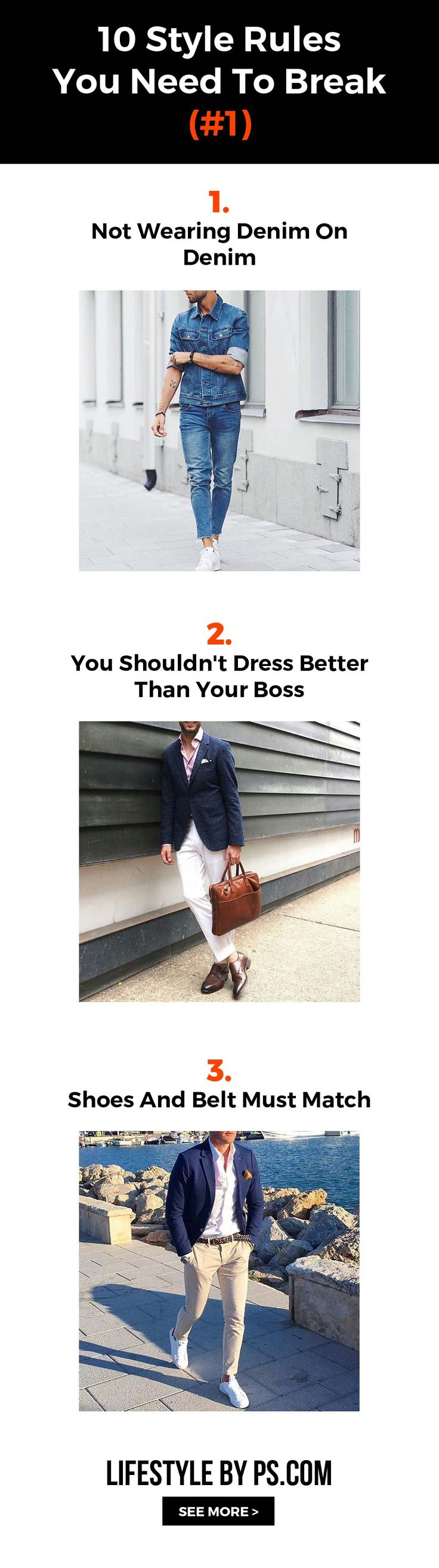 10 Style Rules You Need To Break - Click Image To See More - #mens #fashion #style #fashionmistake