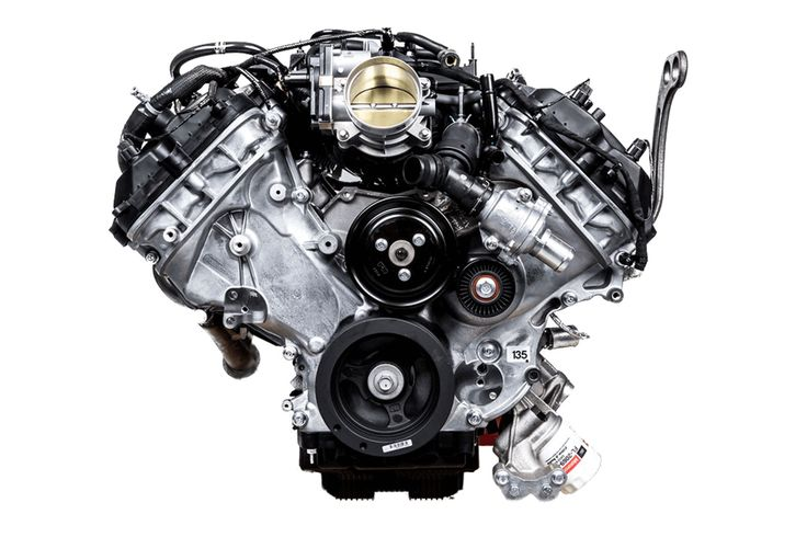Roush Yates Engines - Ford Shelby GT350C-R DOHC flat plane V-8, as used in the Continental series 2015-2016.
