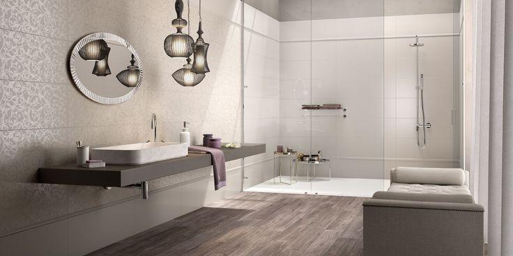 Oltre 25 fantastiche idee su pareti piastrellate da bagno - Bagno moderno piastrelle ...