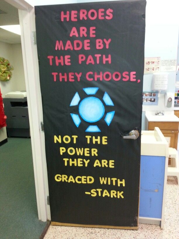 Iron man classroom door