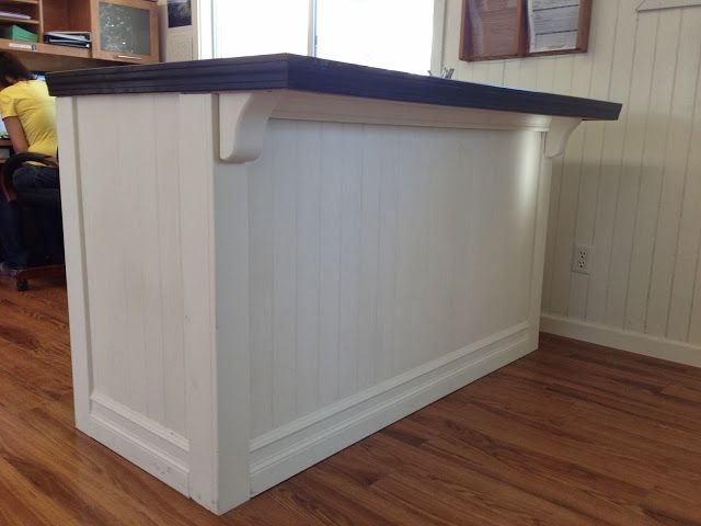 One Thrifty Chick: DIY Custom Receptionist Counter